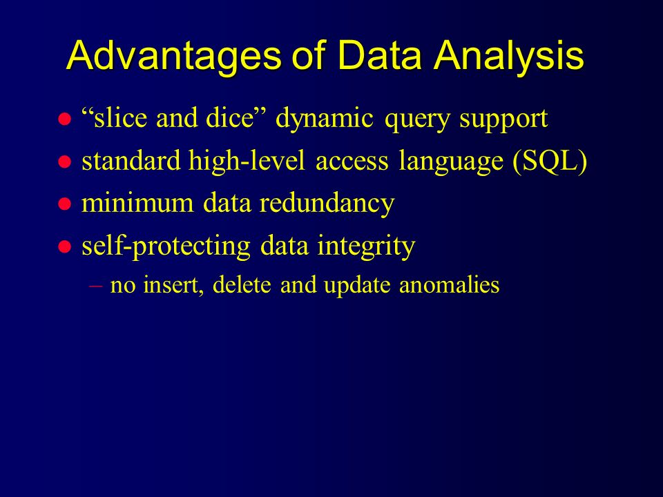 Advantages of Data Analysis