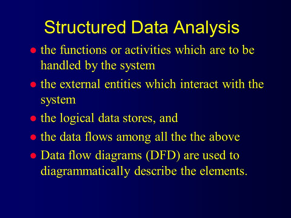 Structured Data Analysis