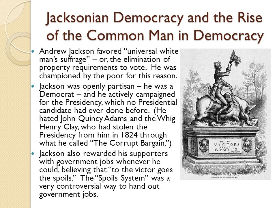 democracy and jacksonian democrats Jacksonian democracy definition at dictionarycom, a free online dictionary with pronunciation, synonyms and translation look it up now.