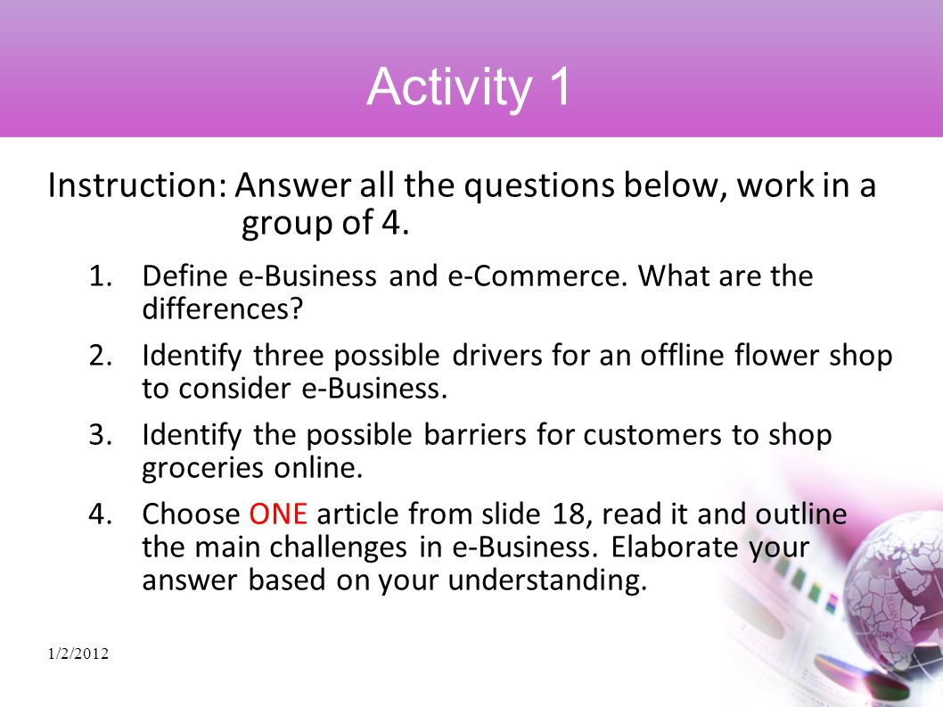 introduction to e business e commerce