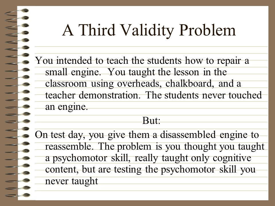 A Third Validity Problem