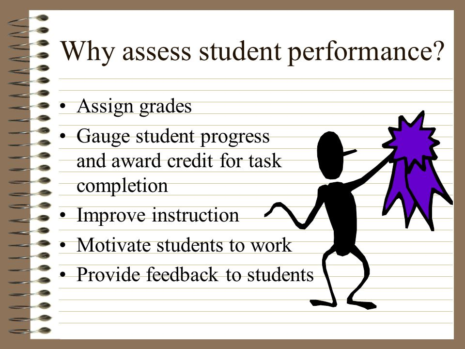 Why assess student performance