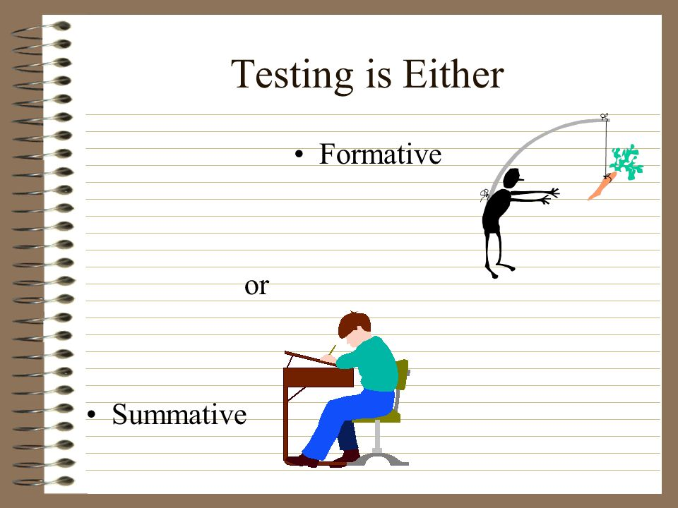 Testing is Either Formative or Summative