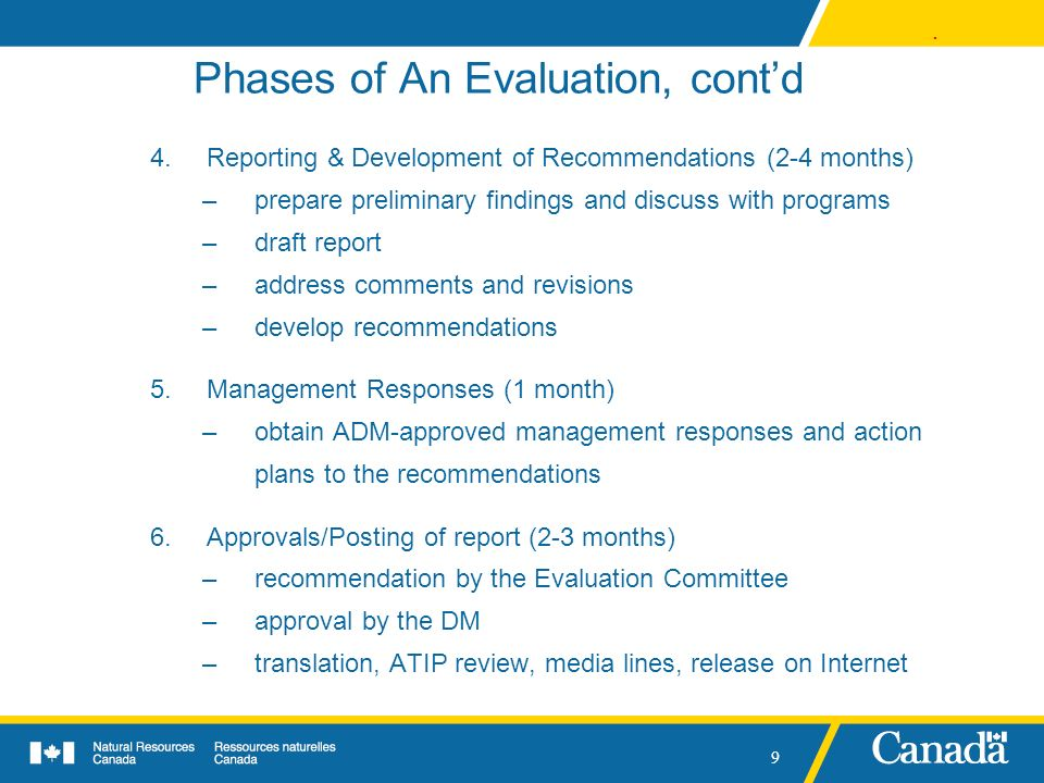 Phases of An Evaluation, cont'd