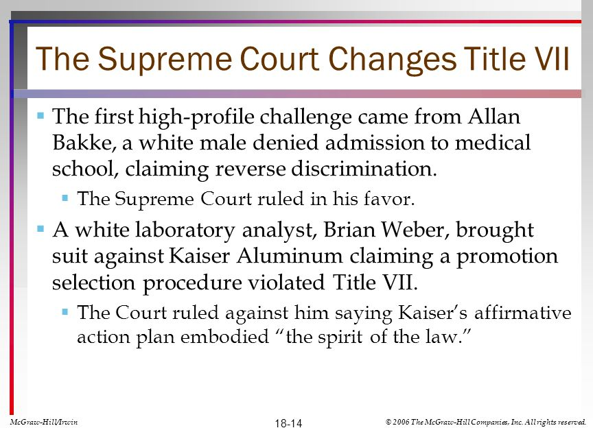 The Supreme Court Changes Title VII