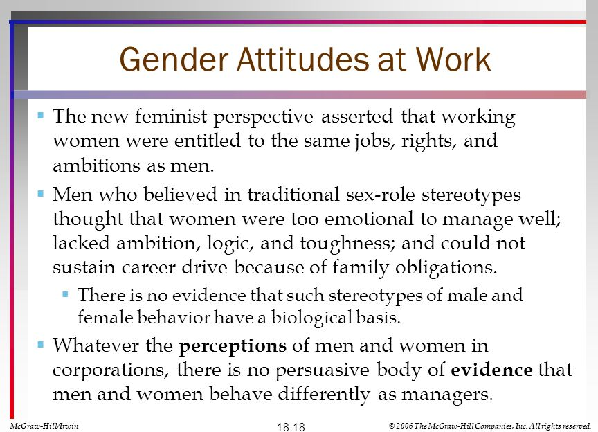 Gender Attitudes at Work
