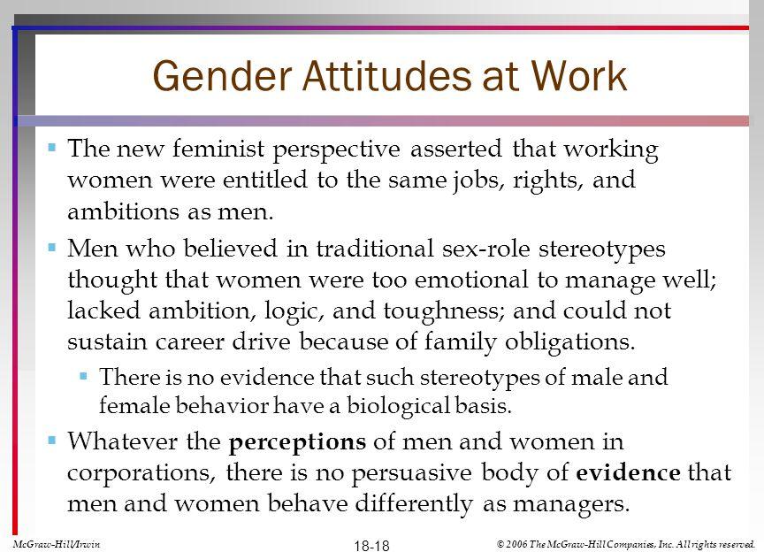 Gender Attitudes at Work