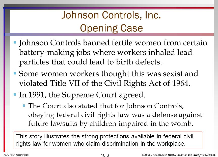 Johnson Controls, Inc. Opening Case