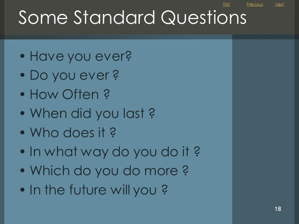 Some Standard Questions