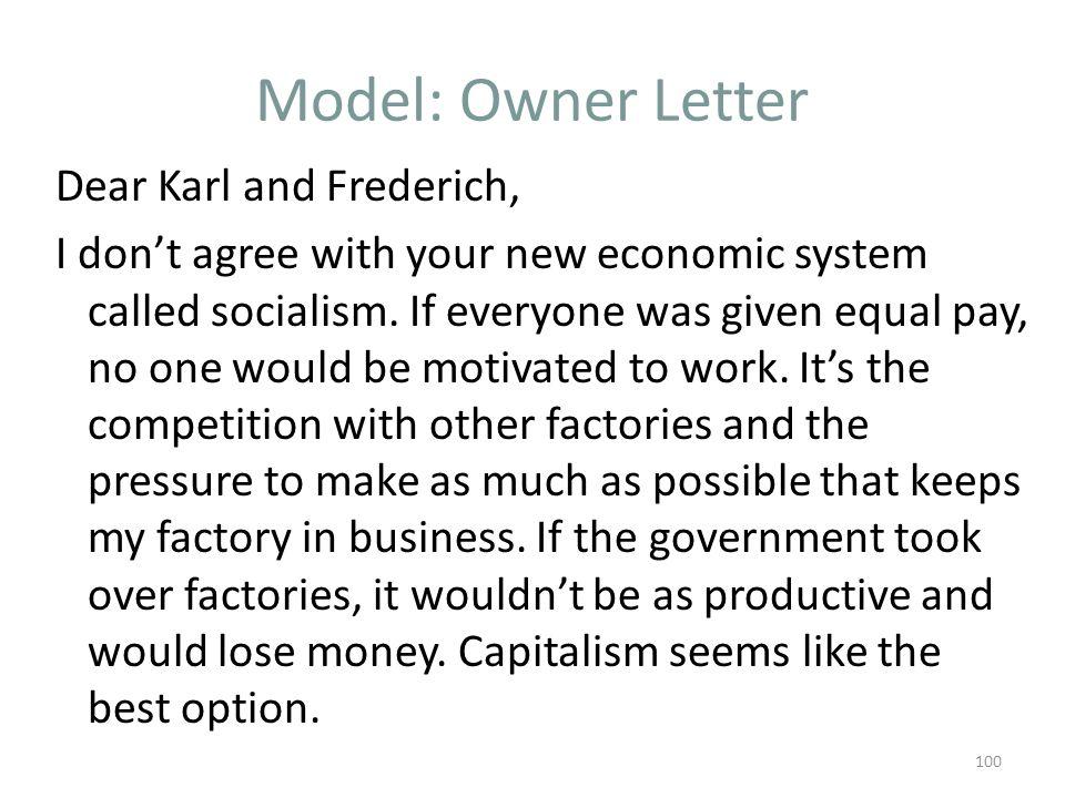 Model: Owner Letter