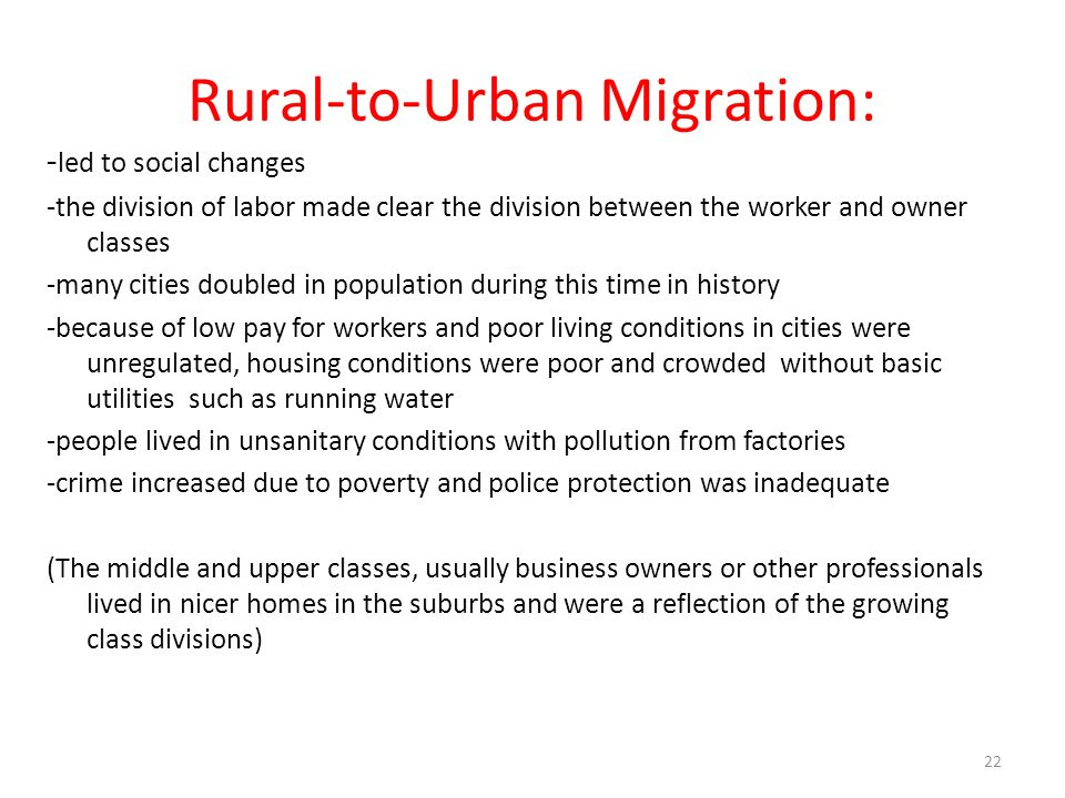 Rural-to-Urban Migration: