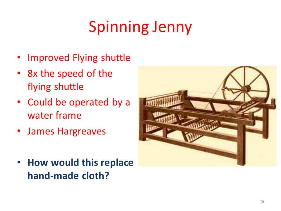 Spinning Jenny Improved Flying shuttle