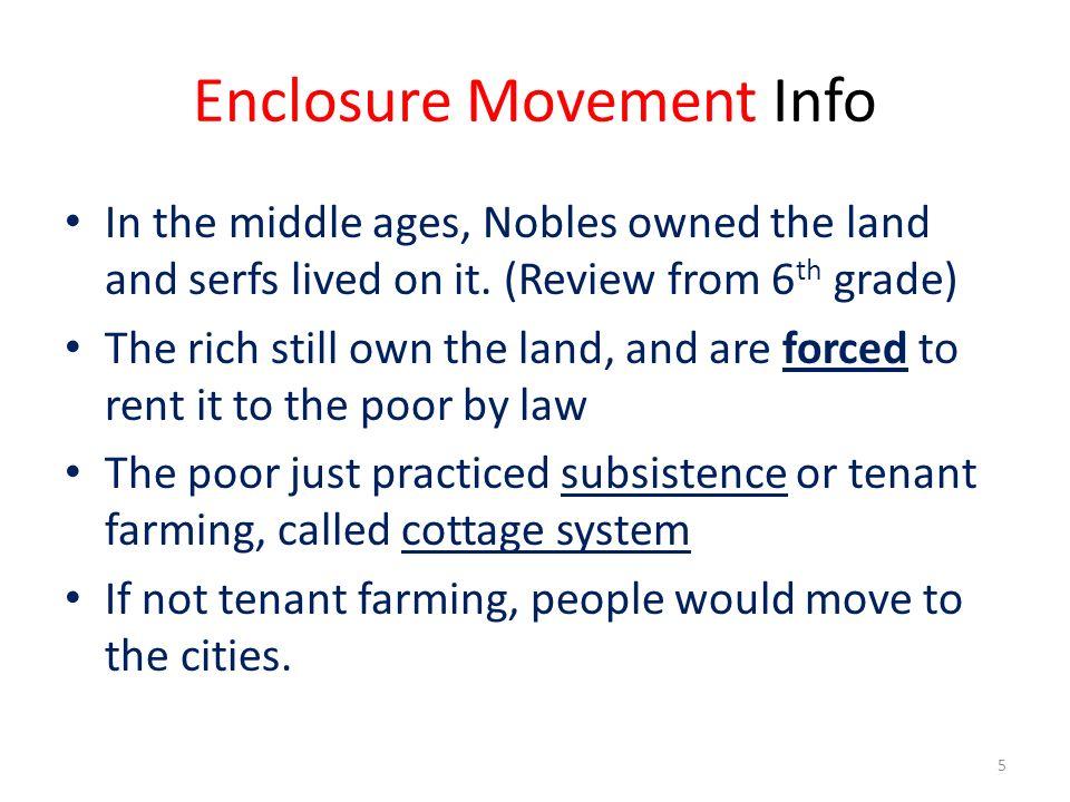 Enclosure Movement Info