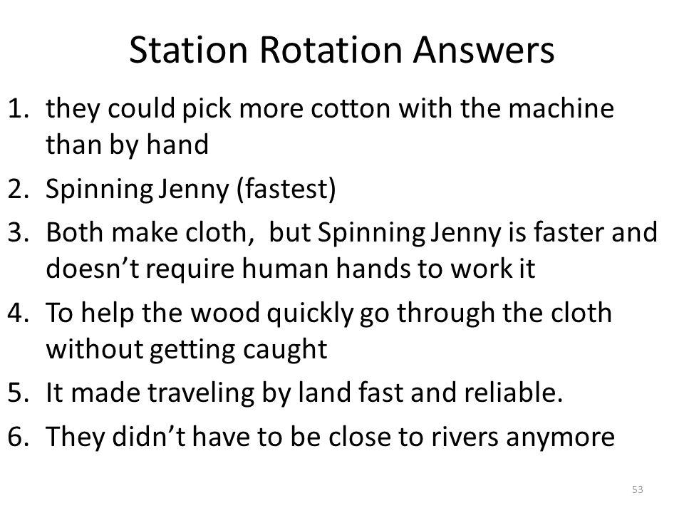 Station Rotation Answers