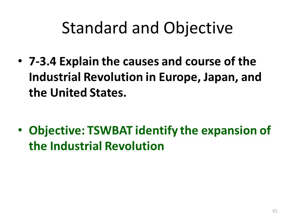 Standard and Objective