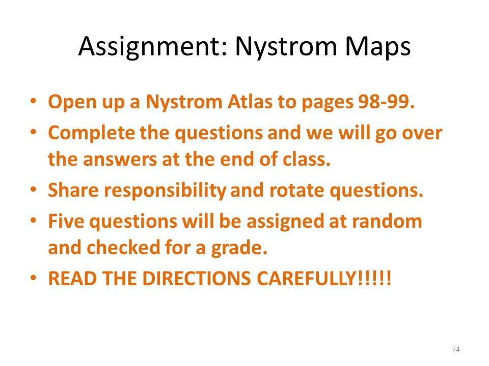Assignment: Nystrom Maps