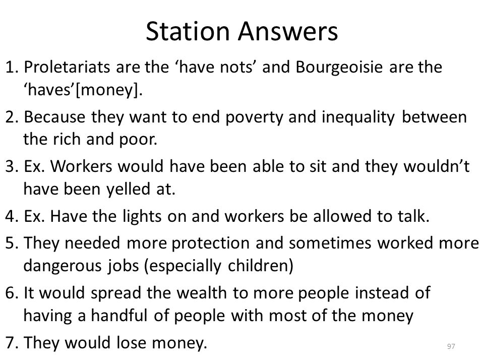 Station Answers