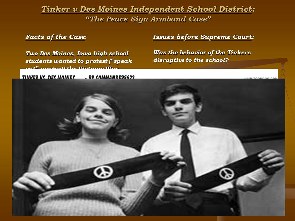 tlo vs new jersey and tinker vs des moines school disctrict rights of students brought into question