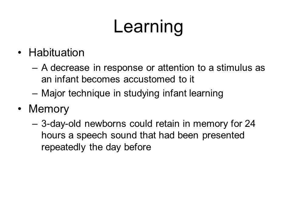 Learning Habituation Memory