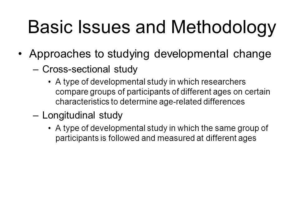 Basic Issues and Methodology