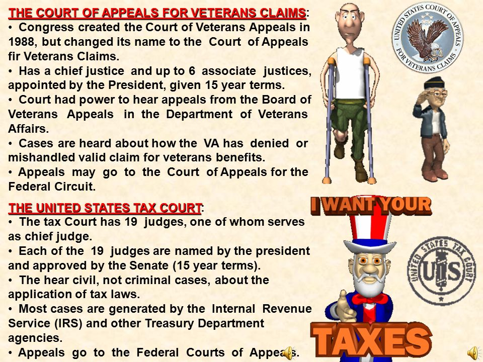 THE COURT OF APPEALS FOR VETERANS CLAIMS: