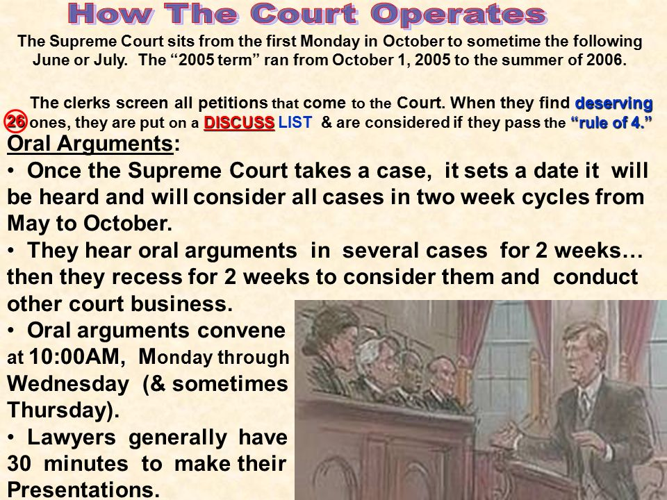 How The Court Operates Oral Arguments:
