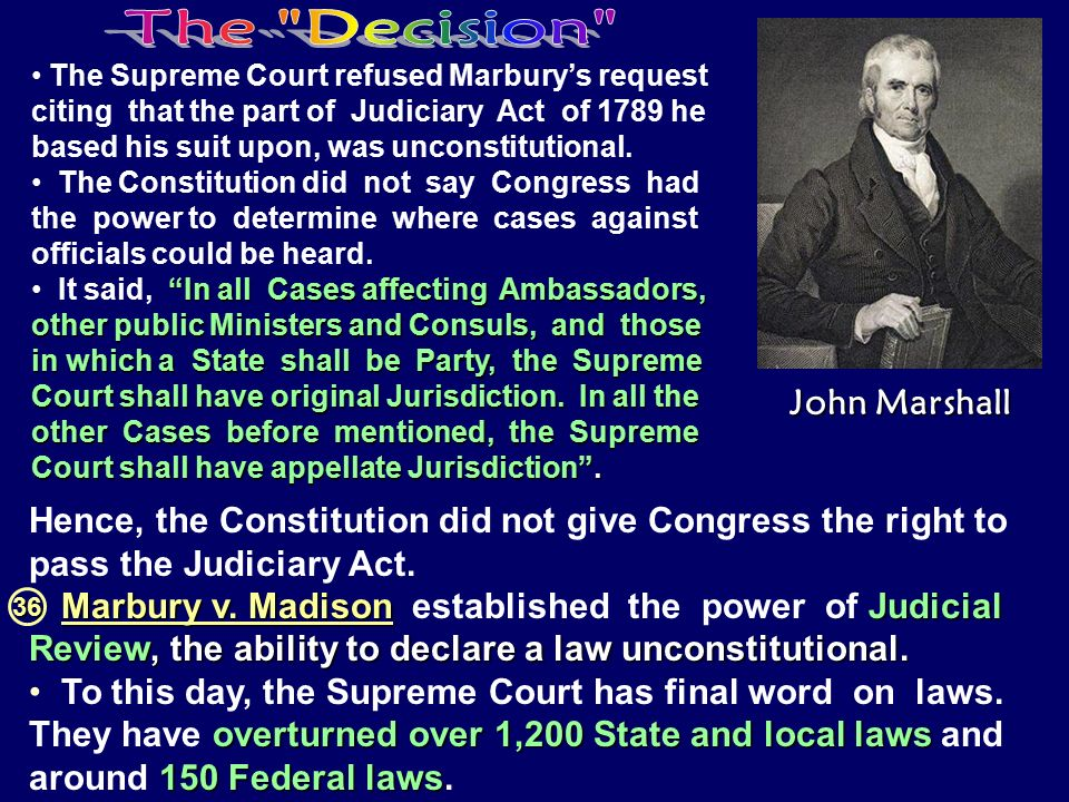 The Decision John Marshall