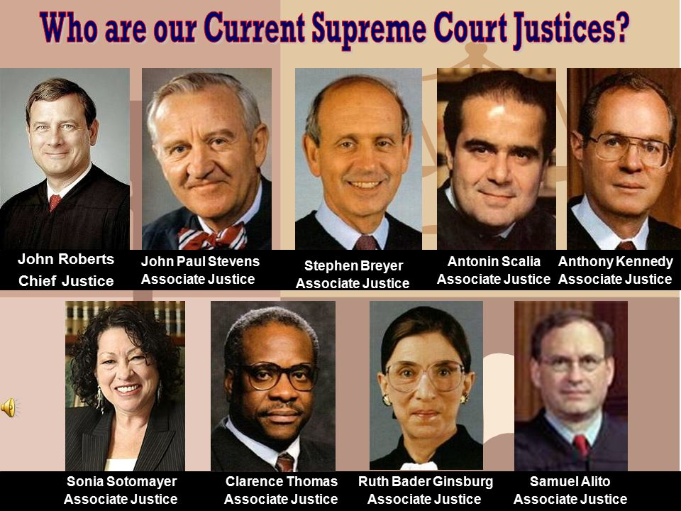 Who are our Current Supreme Court Justices