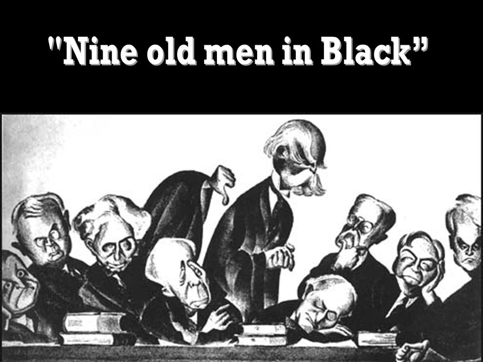 Nine old men in Black
