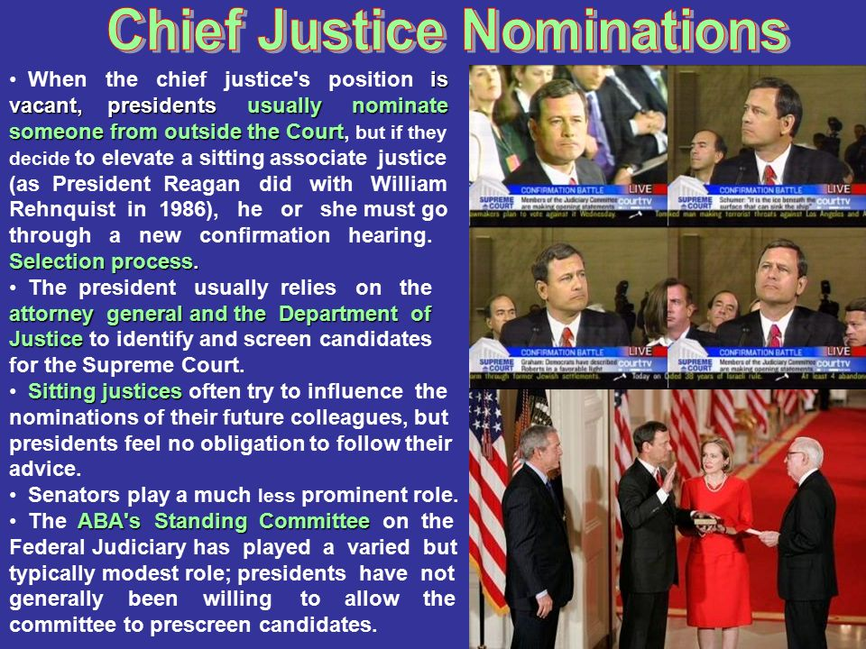 Chief Justice Nominations