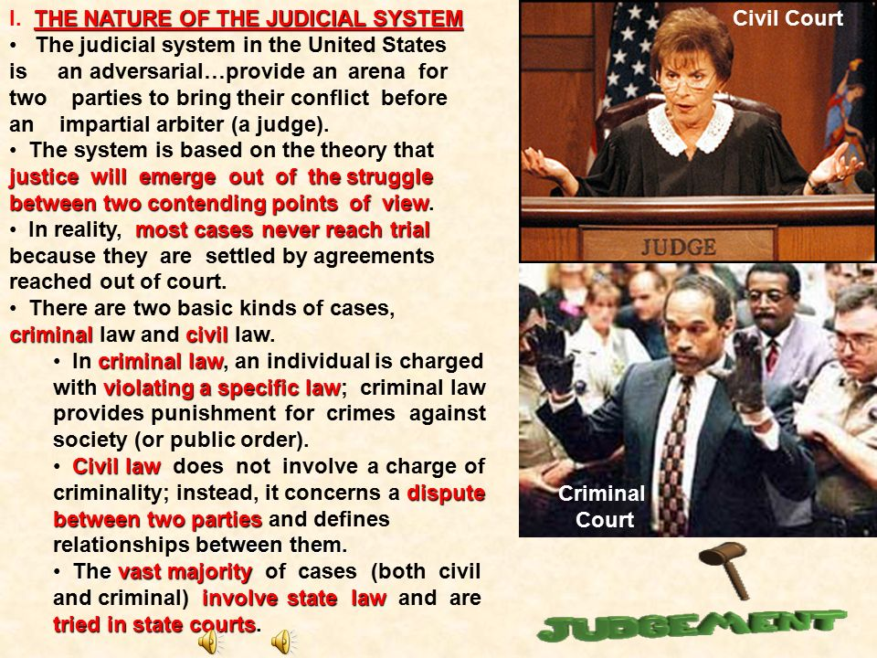 I. THE NATURE OF THE JUDICIAL SYSTEM