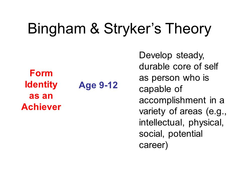 Form Identity as an Achiever