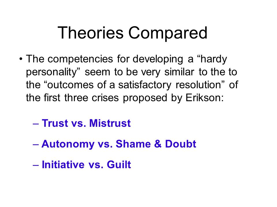 Theories Compared
