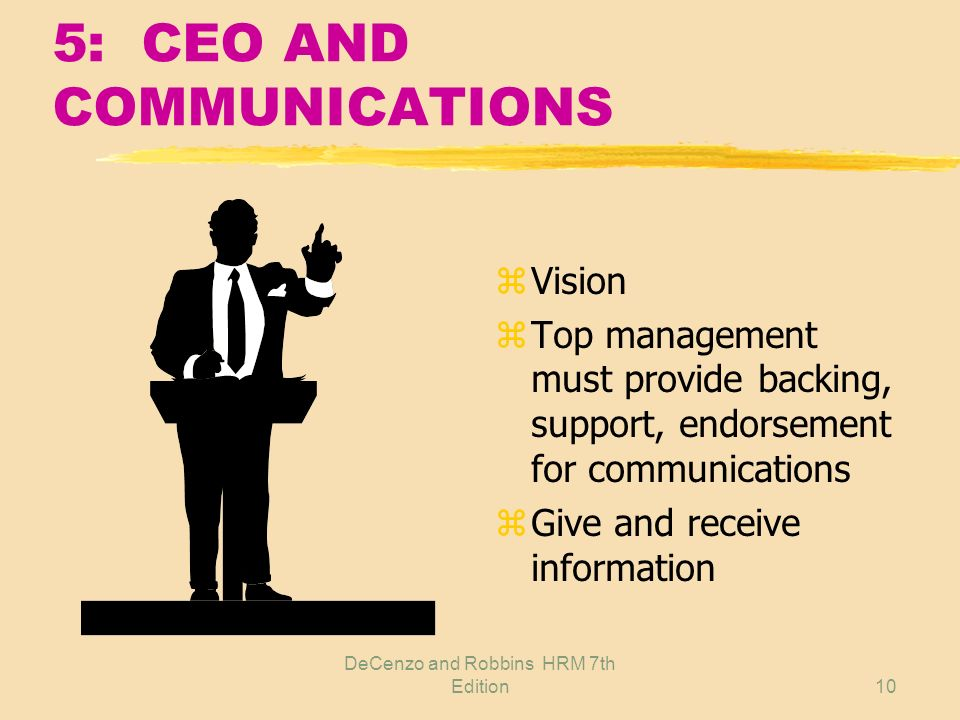 5: CEO AND COMMUNICATIONS