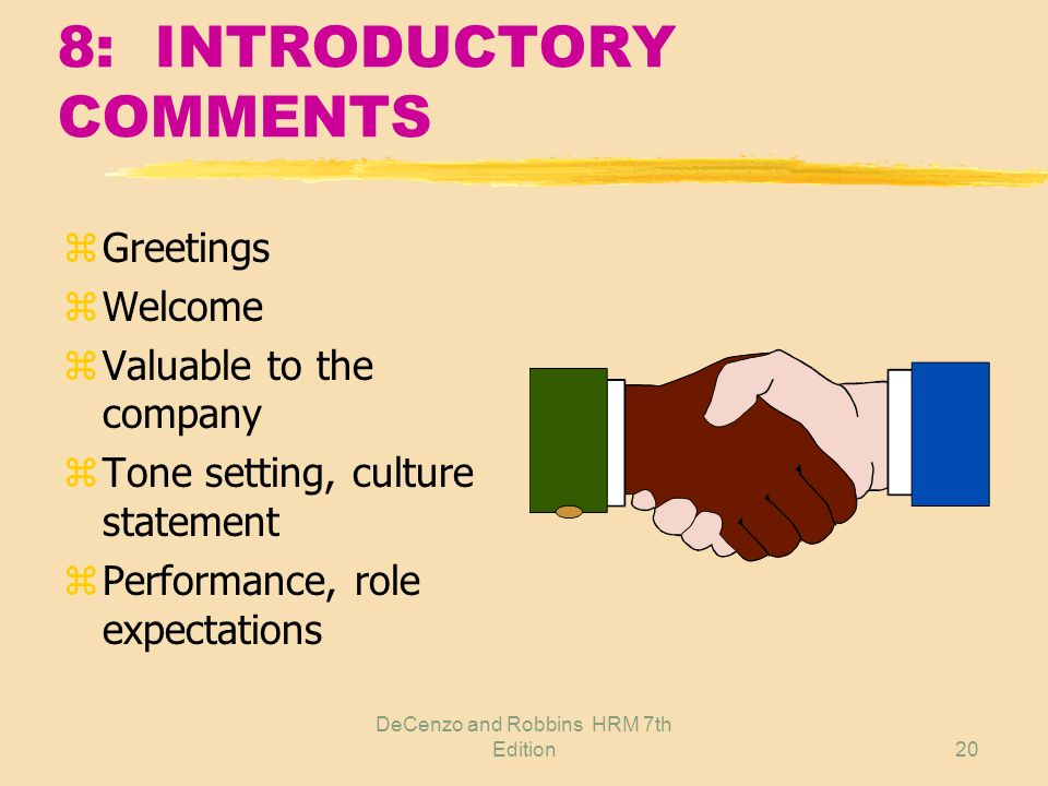 8: INTRODUCTORY COMMENTS