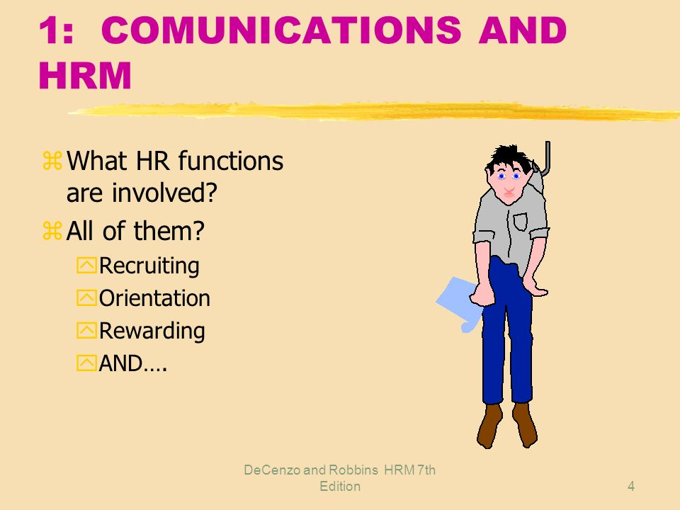 1: COMUNICATIONS AND HRM
