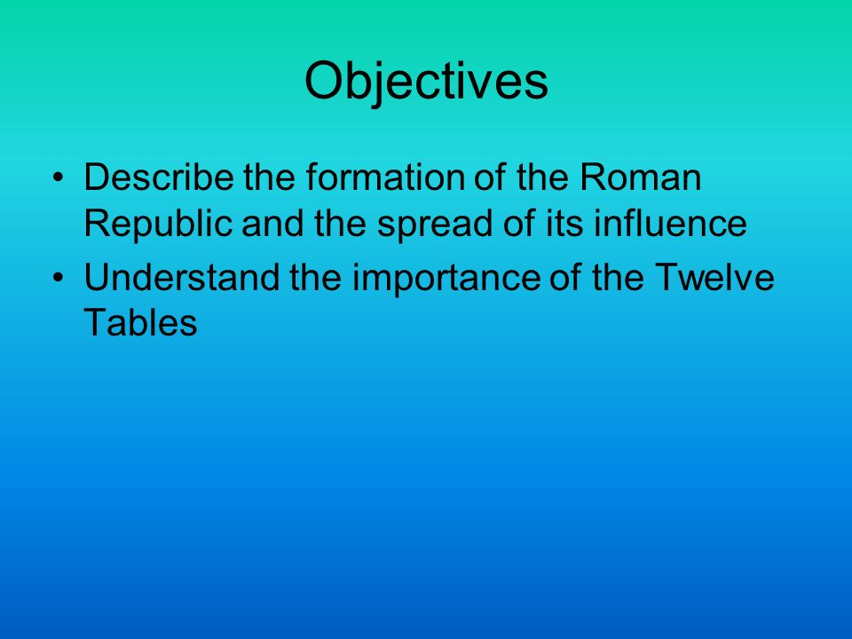 The historical background of the formation of the roman republic