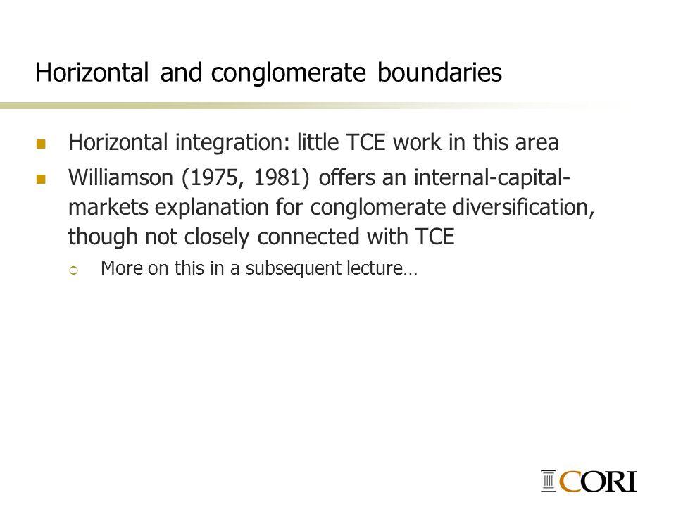 Horizontal and conglomerate boundaries