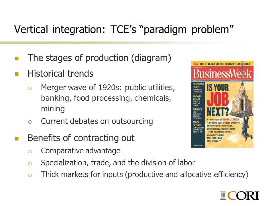 Vertical integration: TCE's paradigm problem