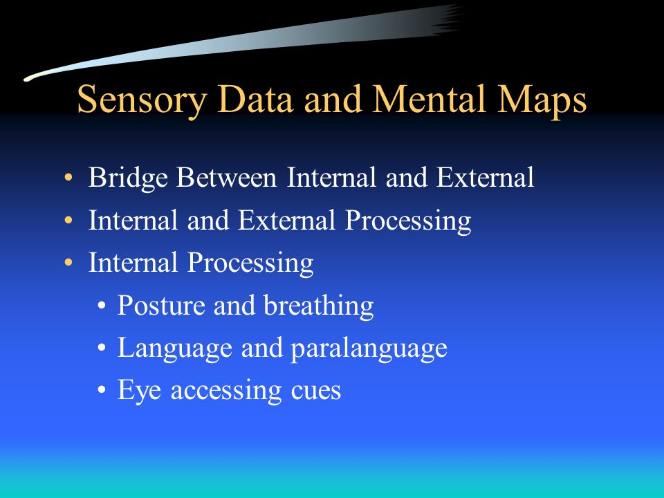 Sensory Data and Mental Maps