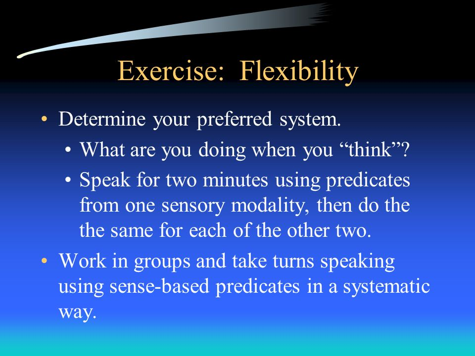 Exercise: Flexibility