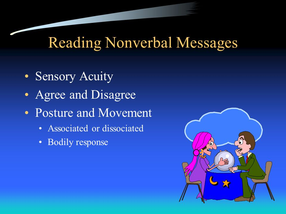 Reading Nonverbal Messages