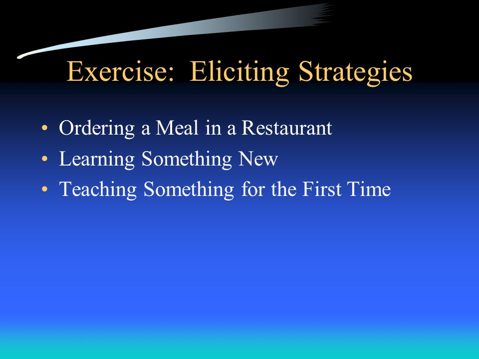 Exercise: Eliciting Strategies