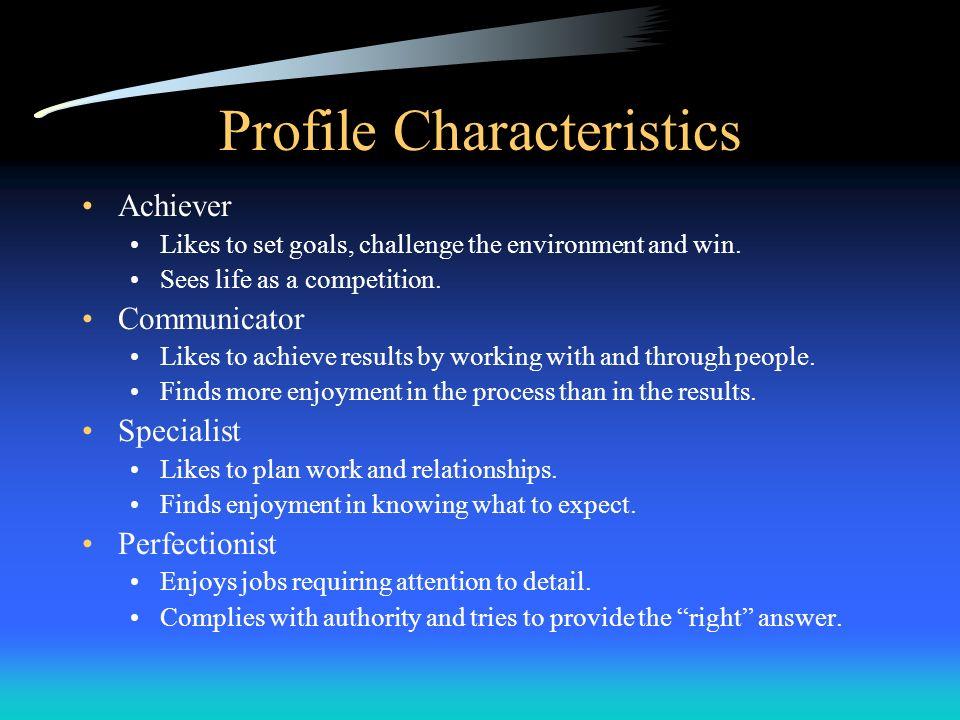 Profile Characteristics