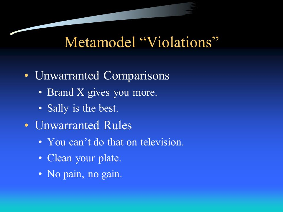 Metamodel Violations