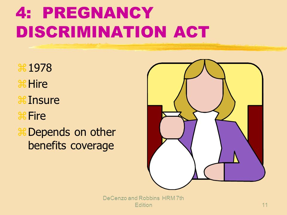 4: PREGNANCY DISCRIMINATION ACT
