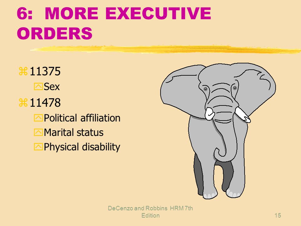 6: MORE EXECUTIVE ORDERS