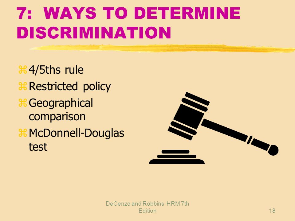 7: WAYS TO DETERMINE DISCRIMINATION