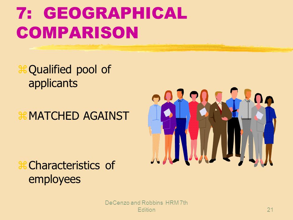 7: GEOGRAPHICAL COMPARISON