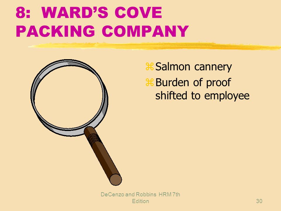 8: WARD'S COVE PACKING COMPANY